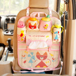 Cute Cartoon Car Seat Back Organizer | hanging storage bags for car back seat | MUNIUREN Bags Pocket Car styling for Kids Children - TheGearJoint