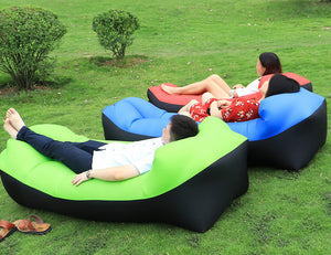 Trending Beach Sofa Laybag | Good Quality Sleeping Bag | Inflatable Air Lazy bag - TheGearJoint