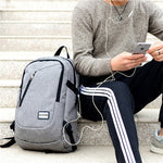 USB Charging Backpack | Adult Student Bag | Laptop Backpack | Unisex Waterproof Travel Backpack - TheGearJoint
