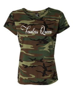 Fearless Queen Unisex Camo T-shirt