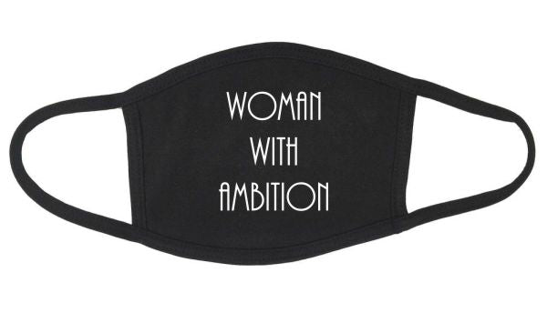 Woman w/Ambition Face Mask w/o Filter Pocket
