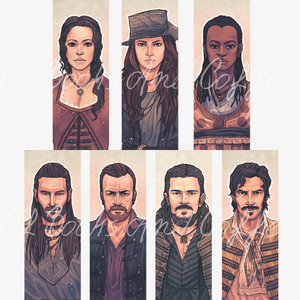 Raise the Black - Black Sails bookmarks