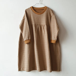 Parallel Oversized Dress, beige
