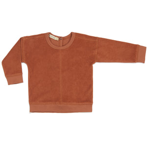 Frotté sweater in burnt clay