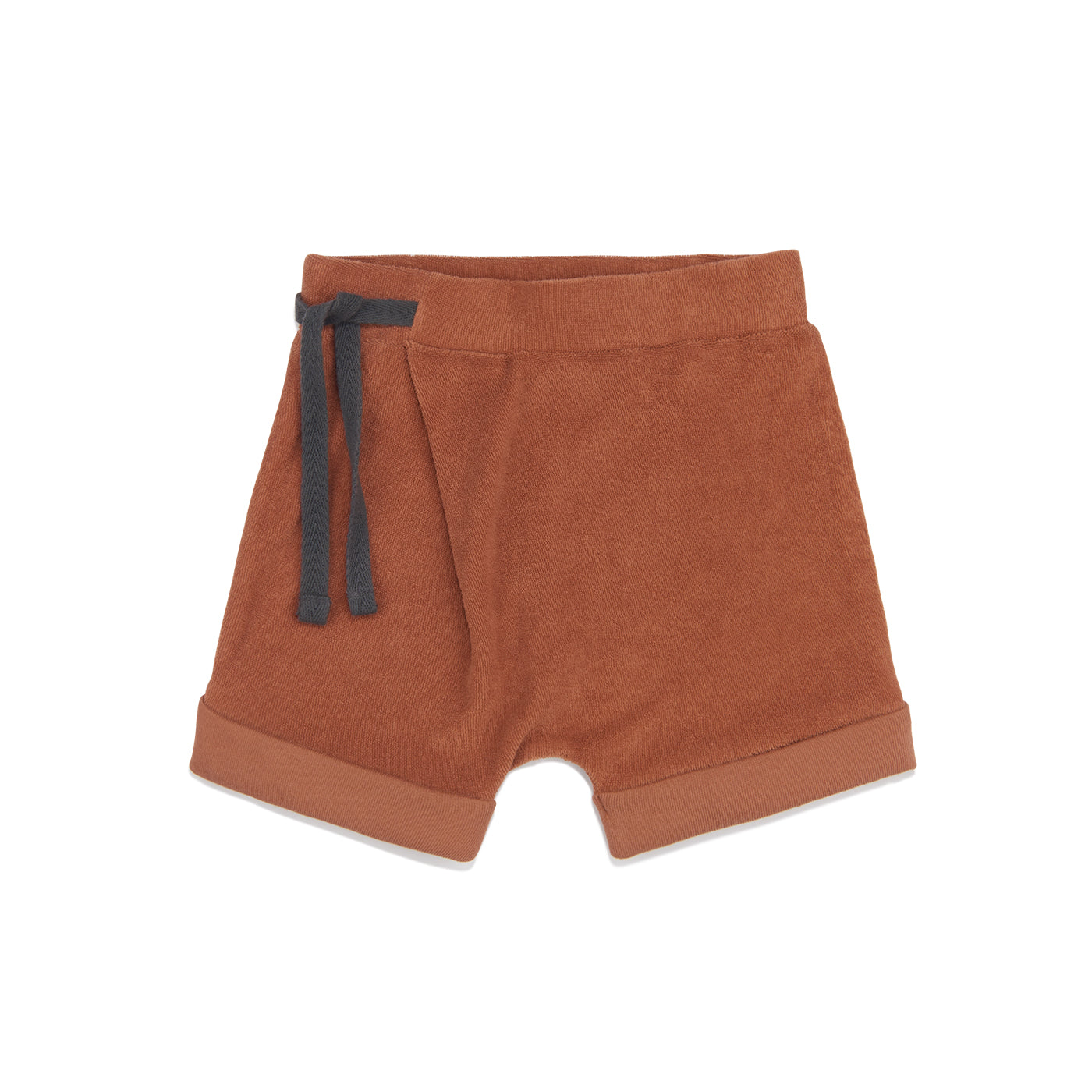 Frotté harem shorts in burnt clay