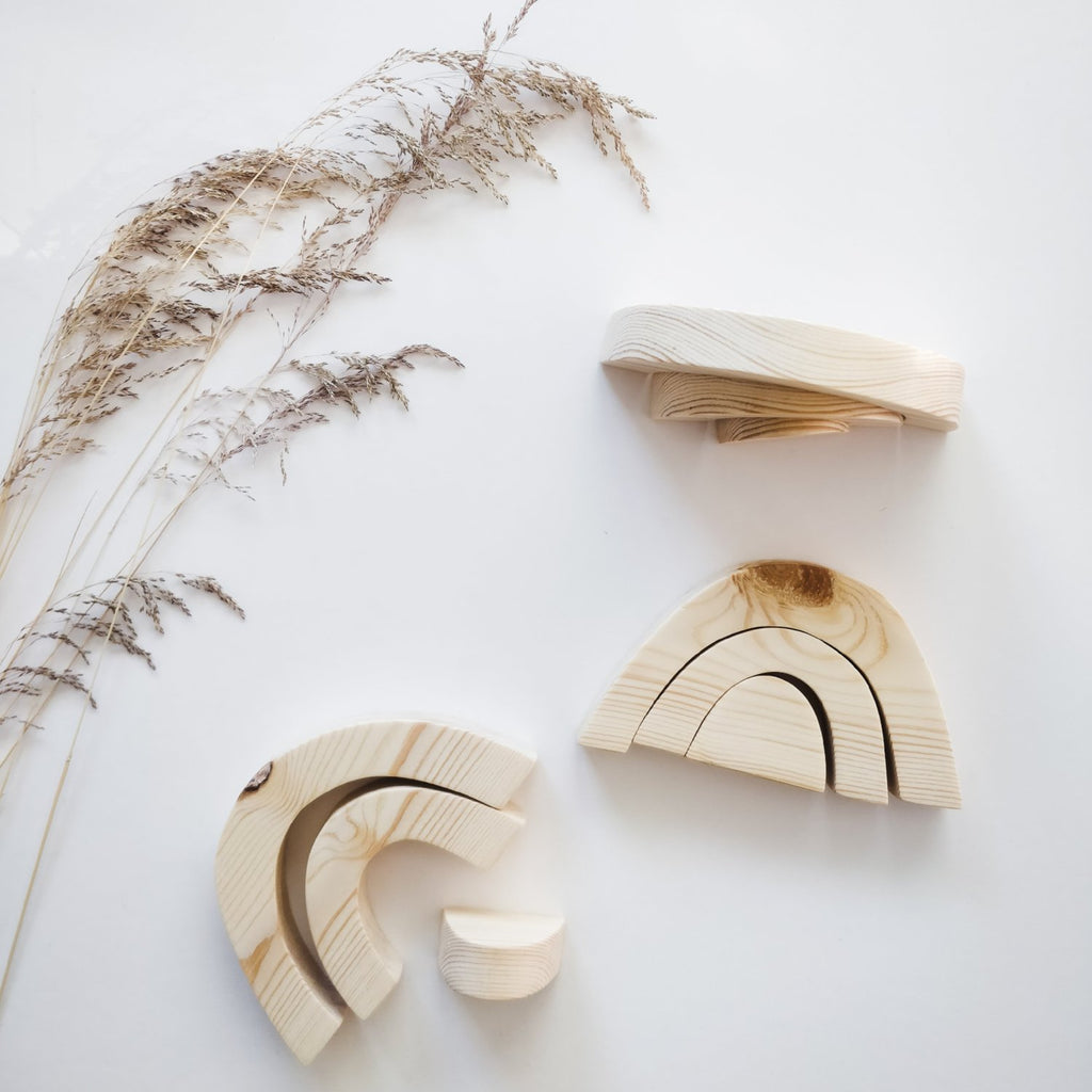 Wooden rainbow, pine, small