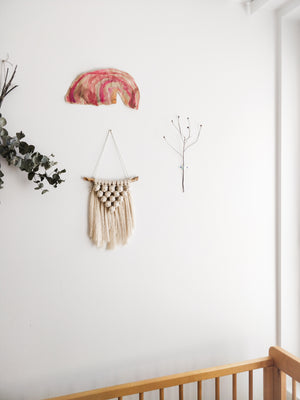 Macramé Wallhanging Cloudberry, Extra Small