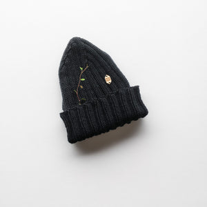 Top-down beanie, cotton