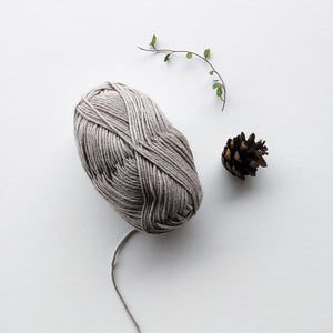 Top-down beanie, merino-cotton