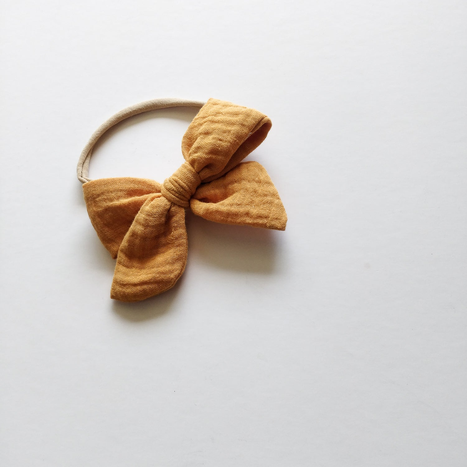 Hair bow, pumpkin