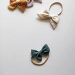 Hair bow, jade green