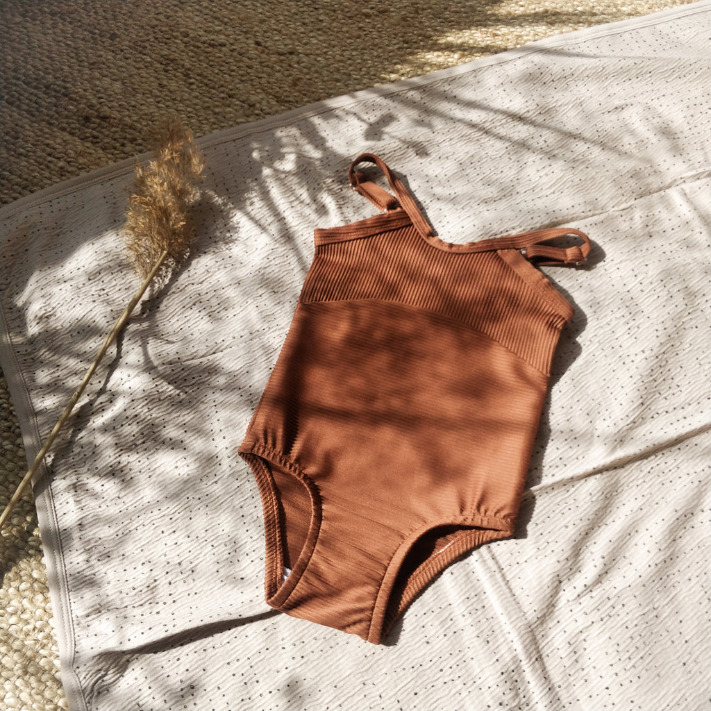 Swimsuit, burnt clay