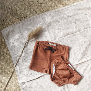 Baby swim pants, burnt clay