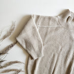 Woolblend oversized knit sweater, Mushroom