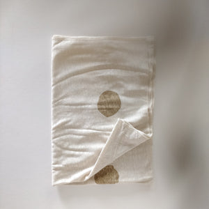 Nova Linen Blanket, White Cloud & Dots