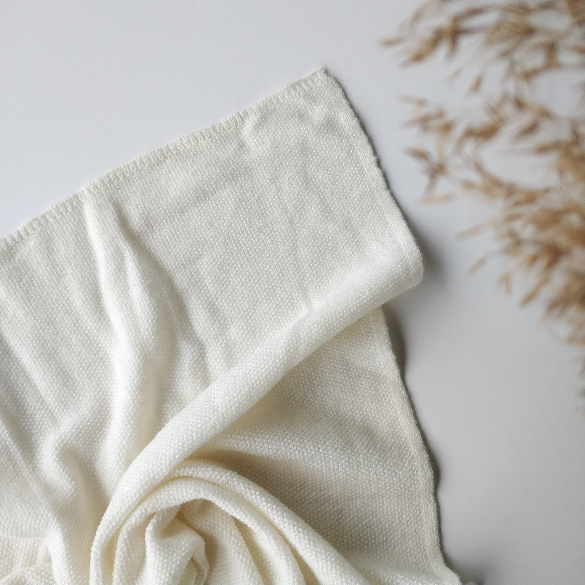Ilon Wool Blanket, Cream White