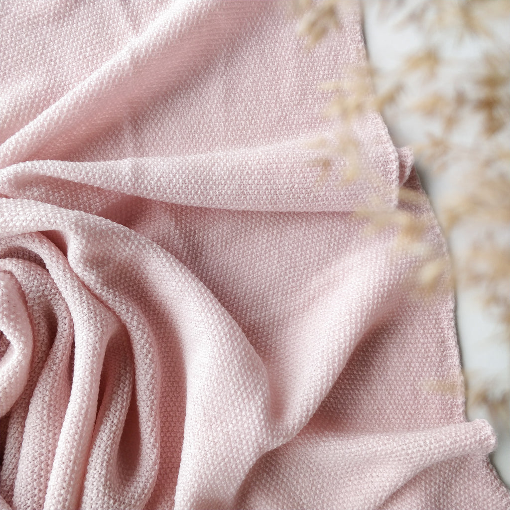 Ilon Wool Blanket, Dusty Pink