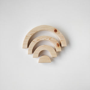 Wooden rainbow, pine, big