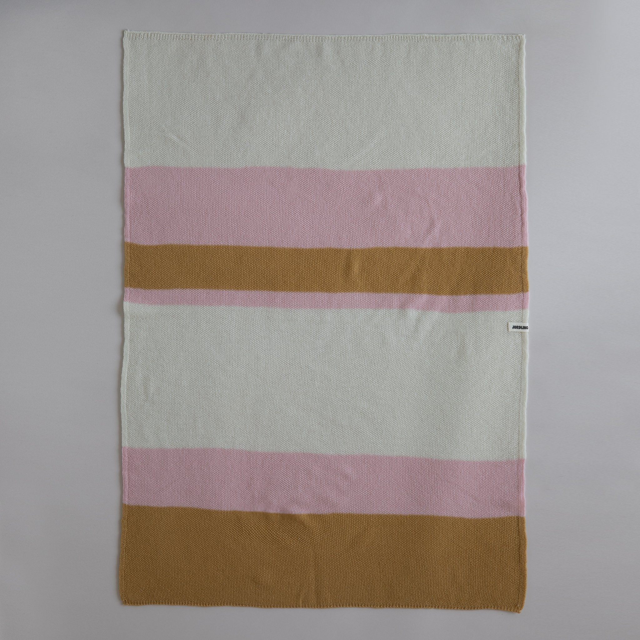Ilon Wool Blanket, Pink Stripe