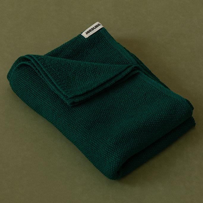 Ilon Wool Blanket, Moss Green