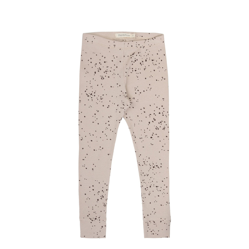 Rib leggings of organic cotton by sustainable kidswear brand Phil&Phae
