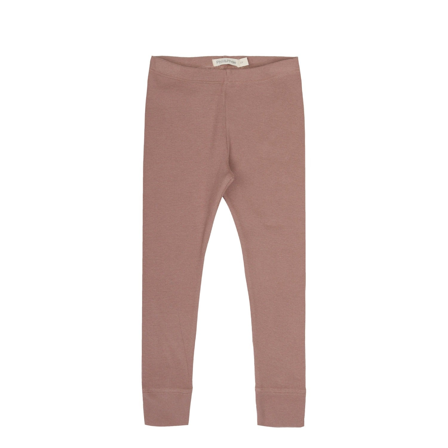 Organic cotton rib leggings by sustainable kidswear brand Phil&Phae