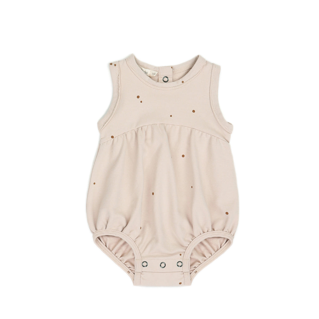 Bubble onesie dots, shell