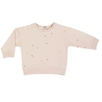 Baby summer sweater dots, shell
