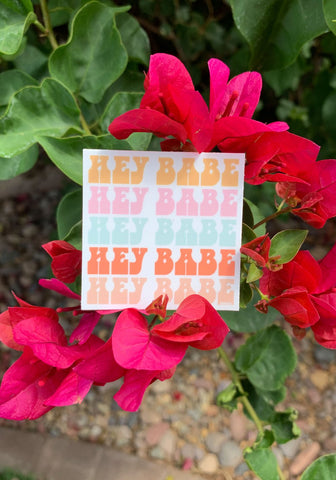 hey babe sticker