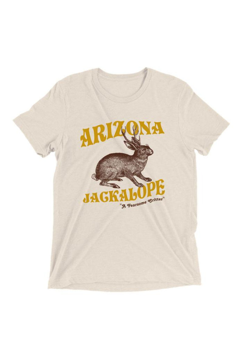 The Jackalope Tee / womens graphic tees / vintage style 70s southwest t shirt / phoenix arizona jackrabbit gifts souvenir t-shirt