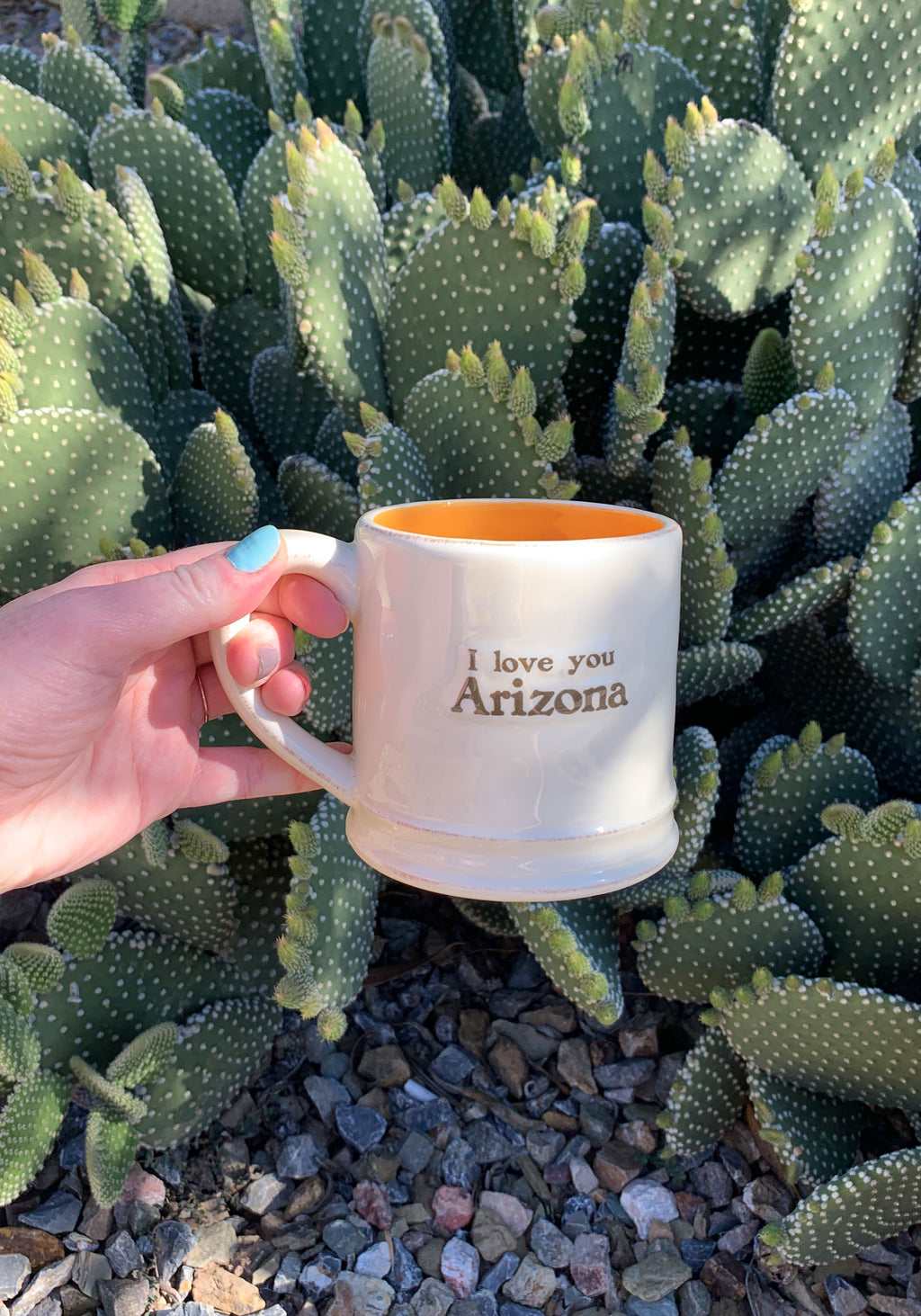 AZ Saguaro Hug Mug / womens accessories drinkware / mugs ceramic / drink cactus southwest / arizona souvenir gifts