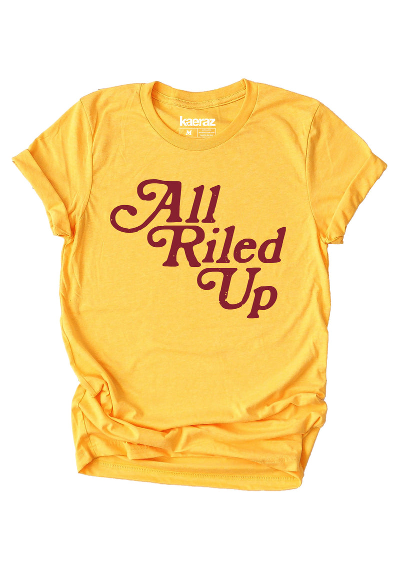 All Riled Up Tee / womens graphic tees / 70s retro vintage style western rodeo t shirt / cowgirl horse southwest shirt
