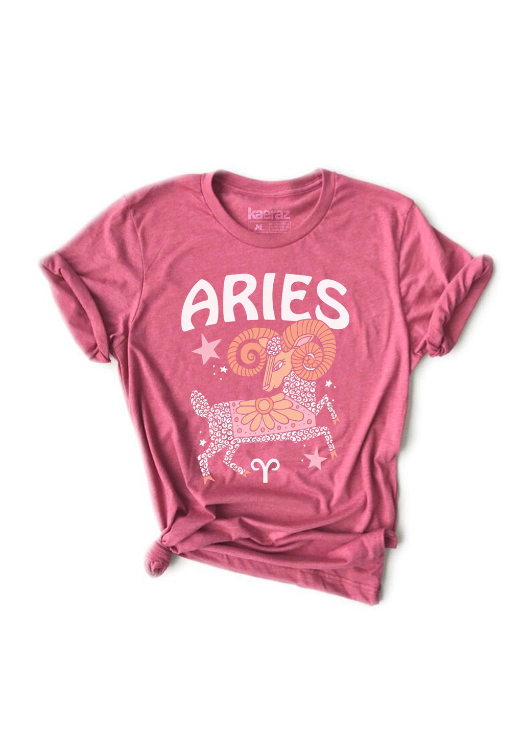 The Aries Tee / womens graphic tees / 60s 70s vintage style t shirt / zodiac horn ram astrology gifts tshirt / hippie gift shirts