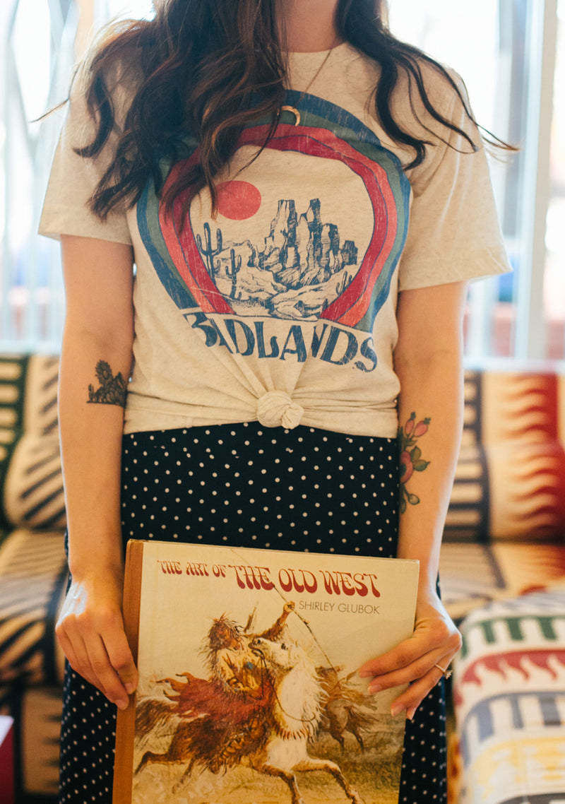 Badlands Tee / womens graphic tees/ vintage style 70s t shirt / triblend tshirt southwest travel shirt / arizona gifts souvenir t-shirt