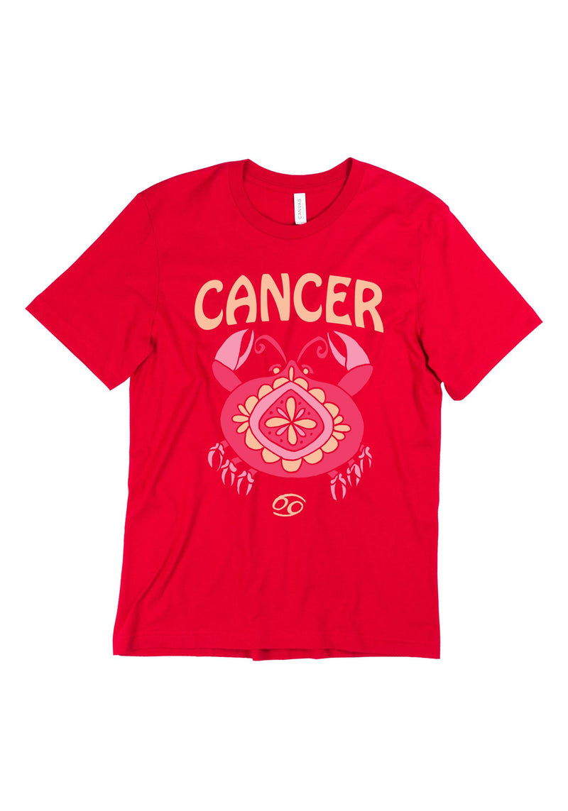 The Cancer Tee / womens graphic tees / 60s 70s vintage style t shirt / zodiac crab astrology gifts tshirt / hippie gift shirts
