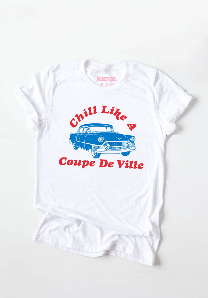 Coupe De Ville Tee / womens graphic tees / vintage style 60s 70s t shirt / retro muscle car cadillac shirts / chevy cars chill t-shirt
