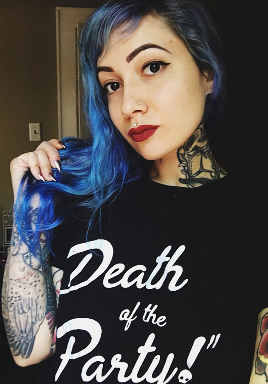 Death of the Party! Tee / witch clothing tshirt / womens graphic tees / halloween shirt women / cute ghost ghoul skull dead witchy gifts