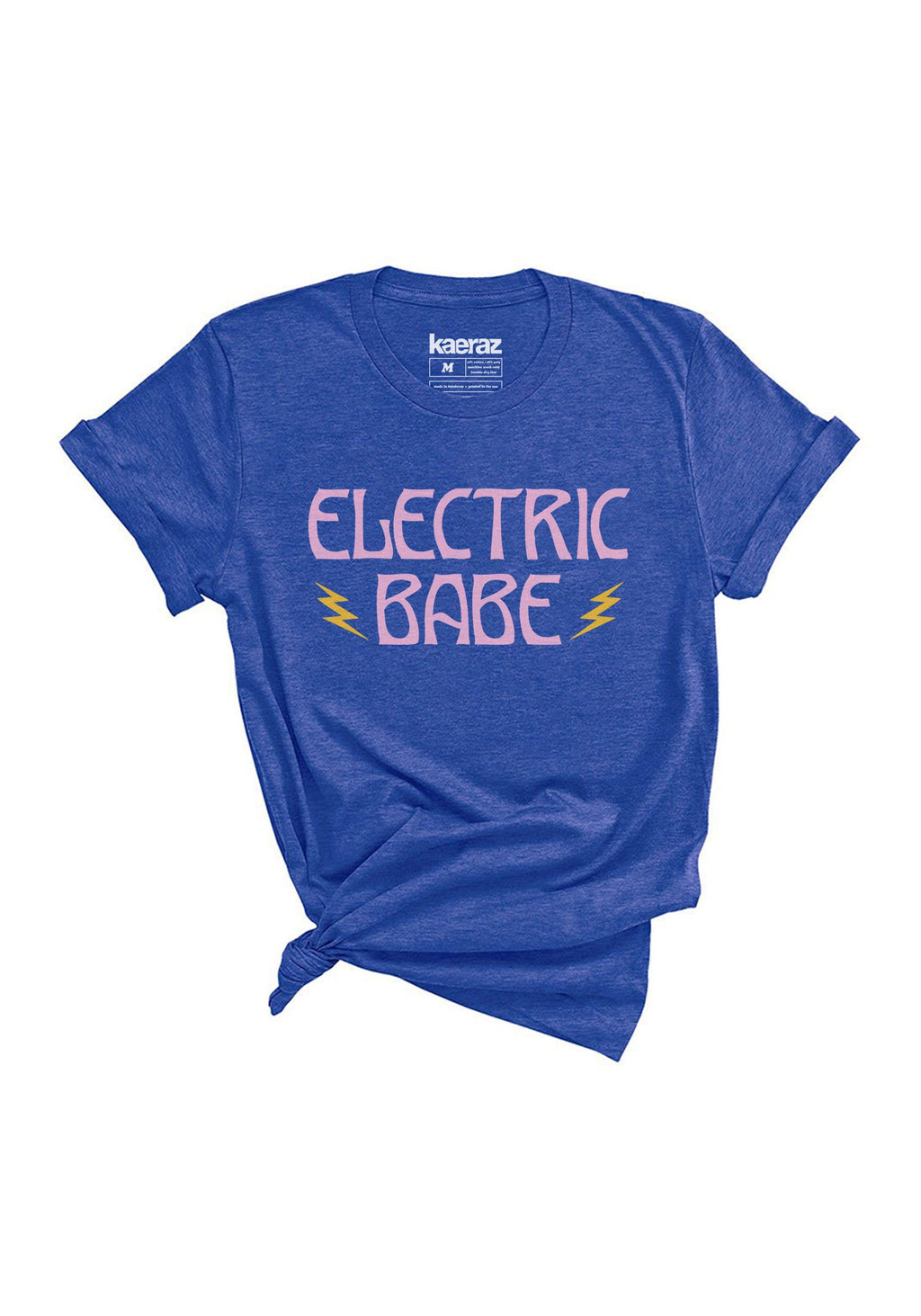 Electric Babe Tee / womens graphic tees / 70s 80s vintage style shirts / retro lightning bolt band t shirt women