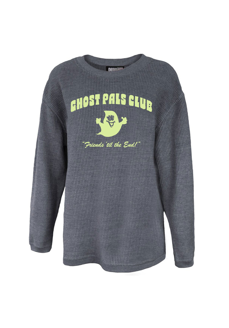 Ghost Pals Club Corded Sweatshirt / womens graphic sweatshirts with sayings / halloween sweaters for women / ghosts ghouls glow in the dark