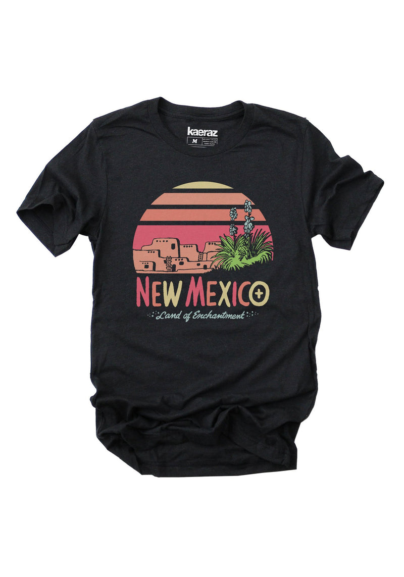 Land of Enchantment Tee / womens graphic tees / vintage style 70s t shirt / new mexico shirt art / state pride travel gifts souvenir t-shirt
