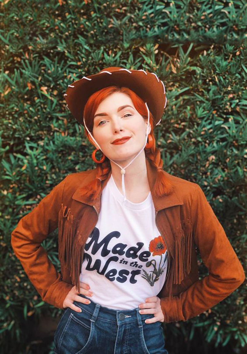 Made in the West Tee / womens graphic tees / vintage style 70s t shirt / poppies flower poppy shirt / arizona gifts souvenir t-shirt