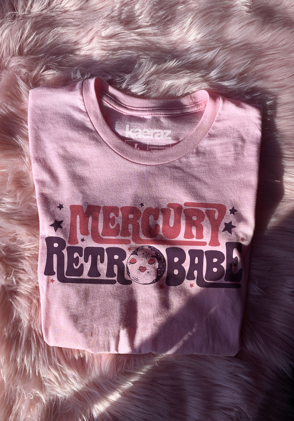 Mercury Retrobabe Tee / vintage style 70s 60s t shirt / mercury retrograde shirt / witchy clothing / astrology tshirt