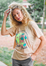 Neon Moon Tee / womens graphic tees / vintage style retro 70s t shirt / cactus western shirt / southwest cowgirl country music t-shirt