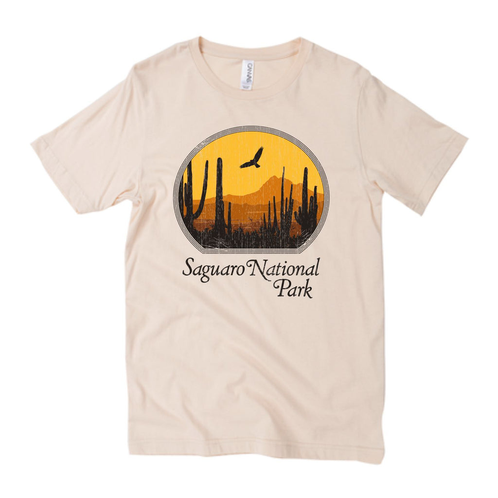 Saguaro National Park Tee / vintage style 70s t shirt / womens graphic tees / western grand canyon shirt / arizona gifts souvenir t-shirt