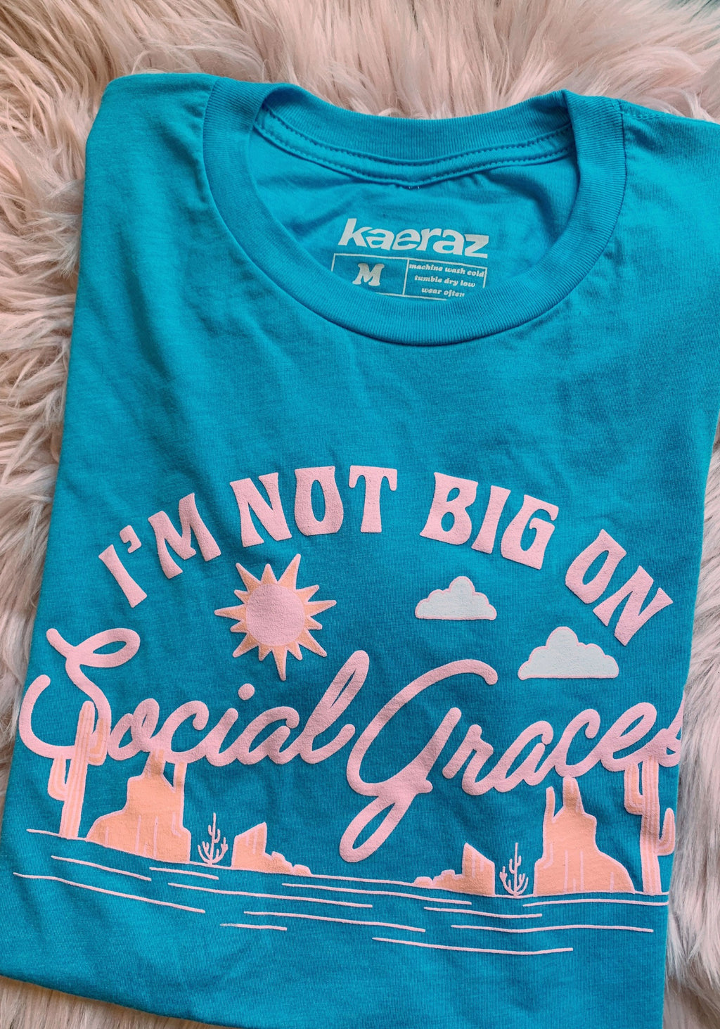 Social Graces Tee / womens graphic tees / country music song cowgirl / friends in low places brooks / vintage style 90s band tshirt