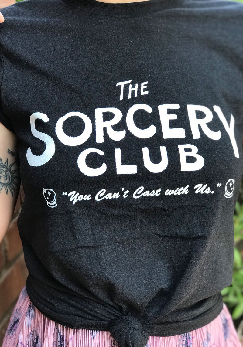Sorcery Club Tee / witch clothing tshirt / womens graphic tees / halloween shirt women / mystical magic wiccan witchy gifts