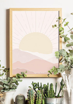 Sunset Art Print | Home Decor Wall Art, Sunset Wall Art, Modern Art Print