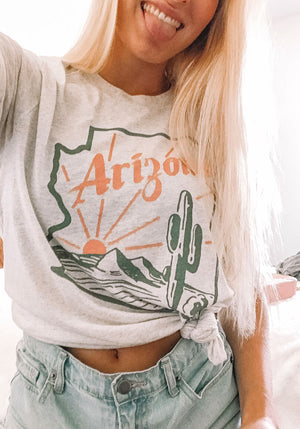 The Arizona Tee / womens graphic tees / vintage style shirts / phoenix arizona gifts t shirt / desert road trip souvenir tshirts