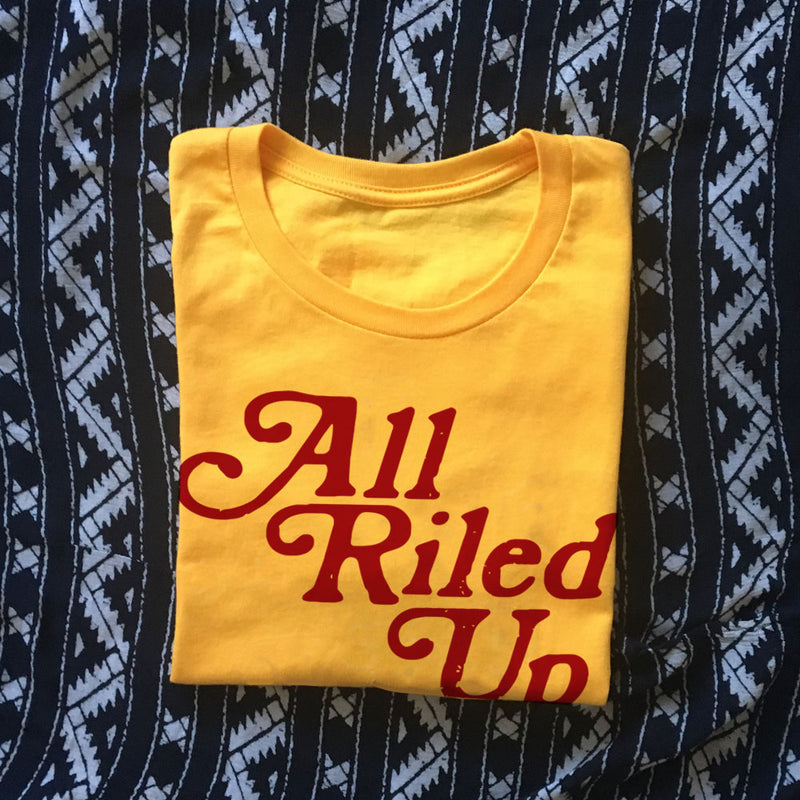 All Riled Up Tee / 70s t shirt / womens graphic tees / cowgirl shirt