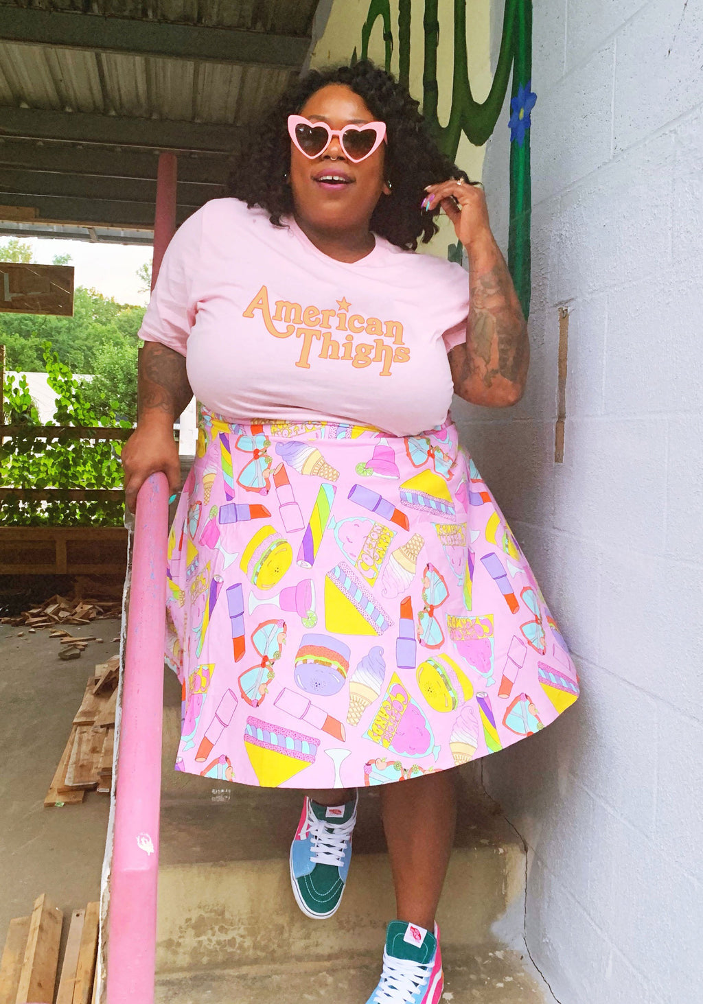 American Thighs Pink Tee